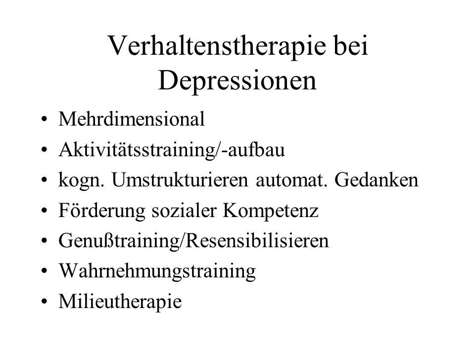 Verhaltenstherapie bei Depressionen