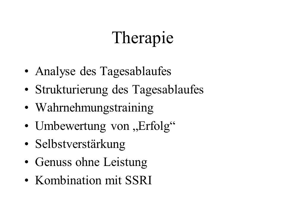 Therapie Analyse des Tagesablaufes Strukturierung des Tagesablaufes