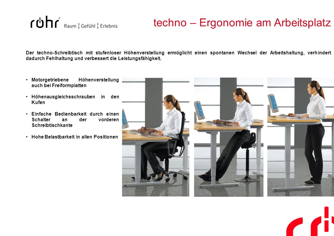 techno – Ergonomie am Arbeitsplatz
