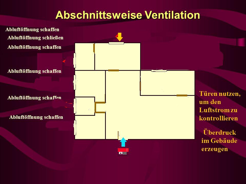 Abschnittsweise Ventilation