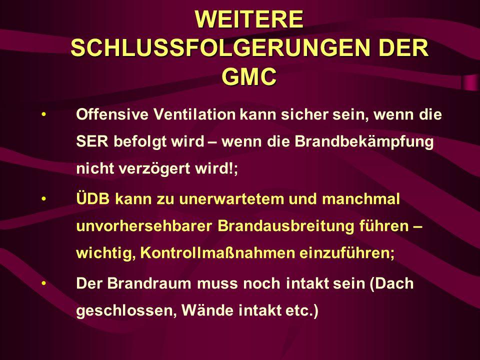 WEITERE SCHLUSSFOLGERUNGEN DER GMC