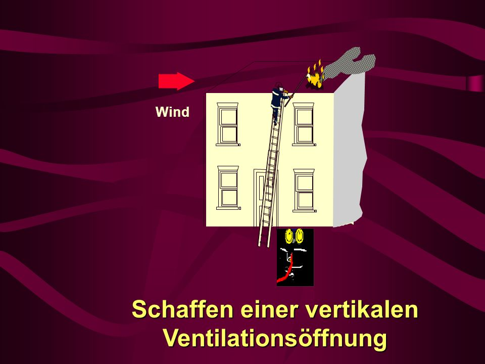 Schaffen einer vertikalen Ventilationsöffnung