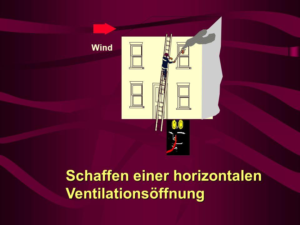 Schaffen einer horizontalen Ventilationsöffnung