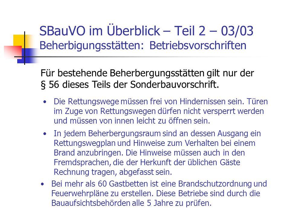 SBauVO im Überblick – Teil 2 – 03/03 Beherbigungsstätten: Betriebsvorschriften