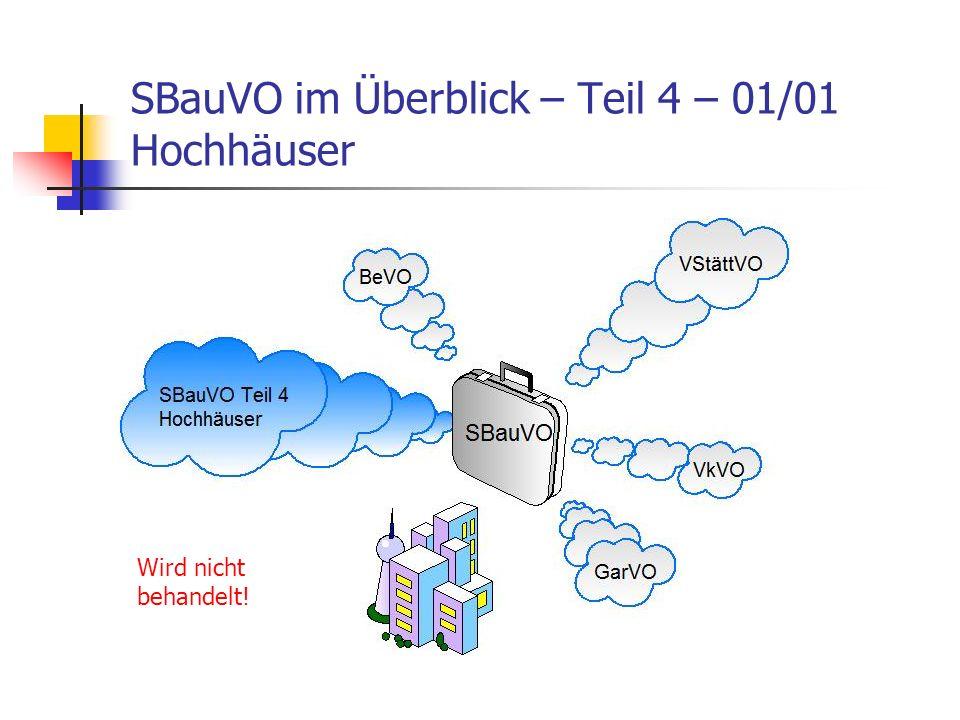 SBauVO im Überblick – Teil 4 – 01/01 Hochhäuser