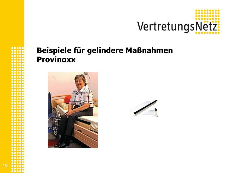 Beispiele für gelindere Maßnahmen Provinoxx