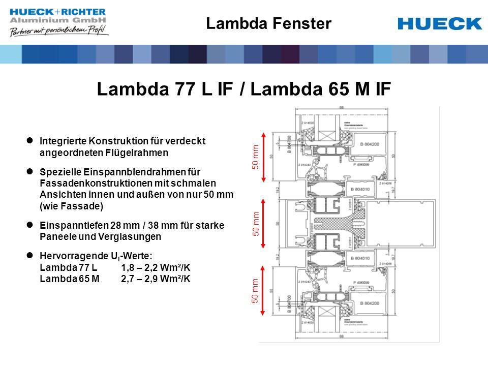 Lambda 77 L IF / Lambda 65 M IF Lambda Fenster