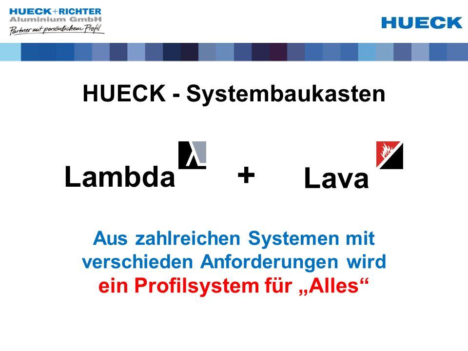 """+ Lambda Lava HUECK - Systembaukasten ein Profilsystem für """"Alles"""