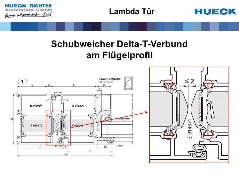 Schubweicher Delta-T-Verbund am Flügelprofil