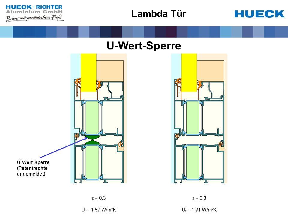 Lambda Tür U-Wert-Sperre U-Wert-Sperre (Patentrechte angemeldet)