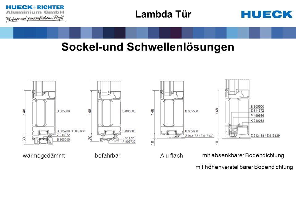 Sockel-und Schwellenlösungen