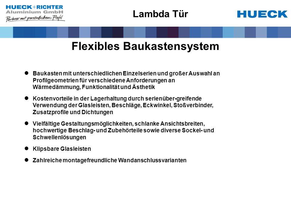 Flexibles Baukastensystem