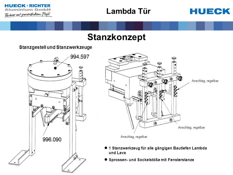 Stanzkonzept Lambda Tür Stanzgestell und Stanzwerkzeuge