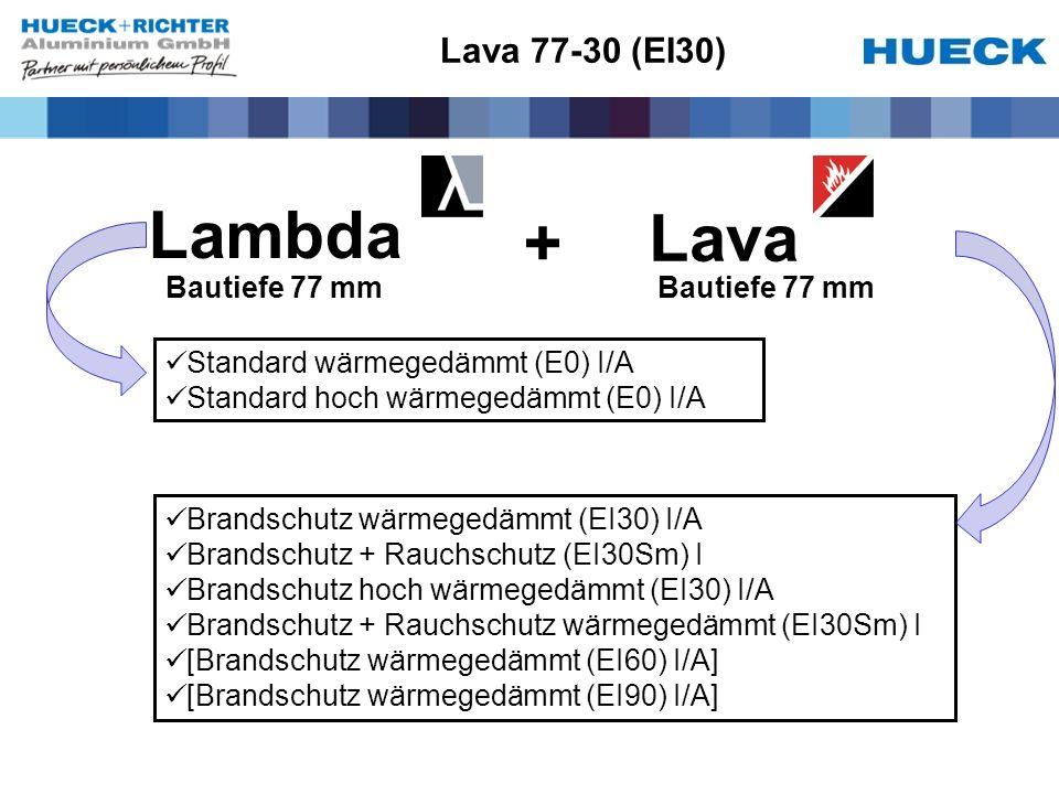 Lambda Lava + Lava 77-30 (EI30) Bautiefe 77 mm