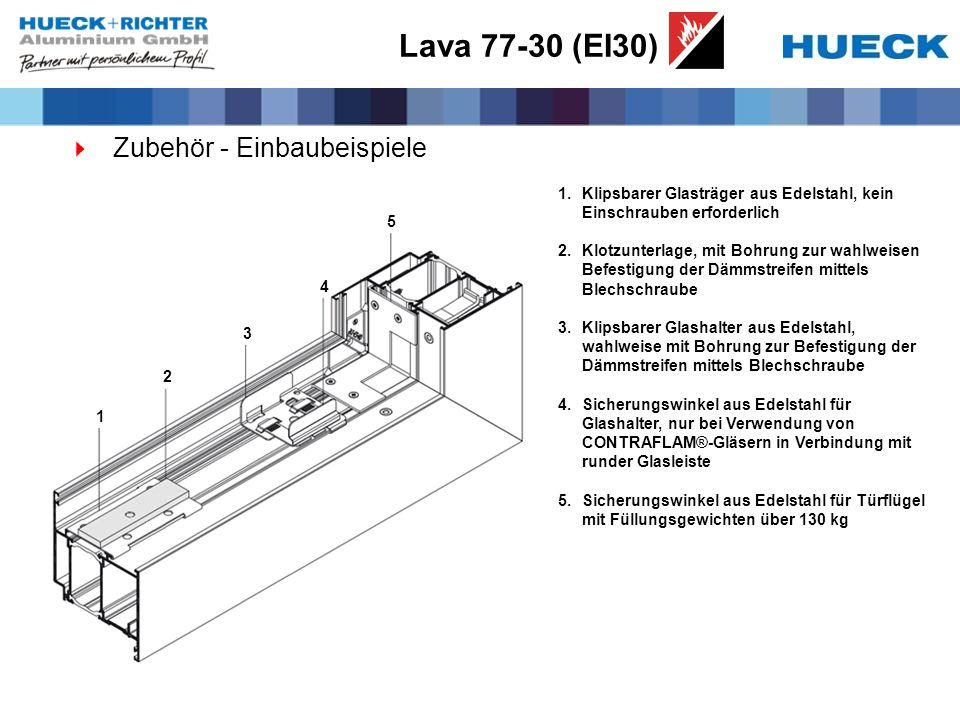 Lava 77-30 (EI30) Zubehör - Einbaubeispiele
