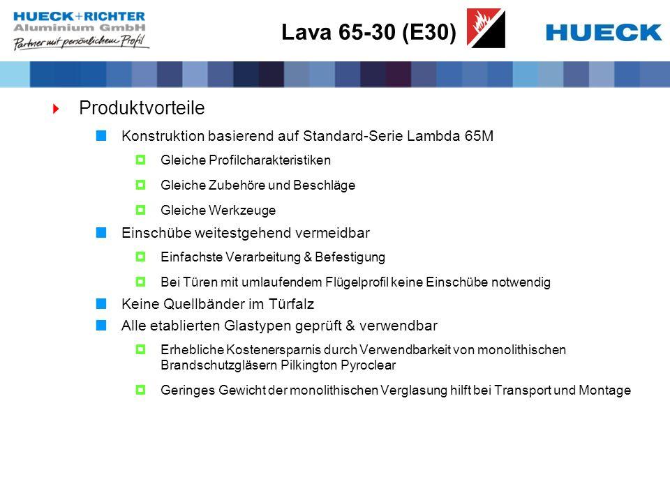 Lava 65-30 (E30) Produktvorteile