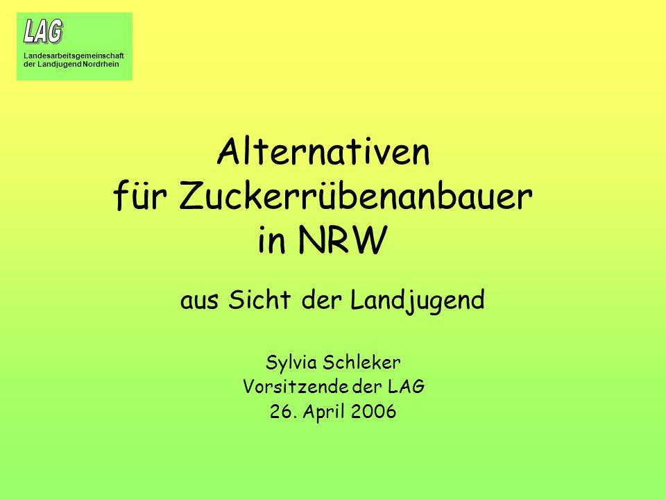 Alternativen für Zuckerrübenanbauer in NRW