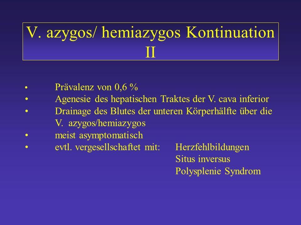 V. azygos/ hemiazygos Kontinuation II