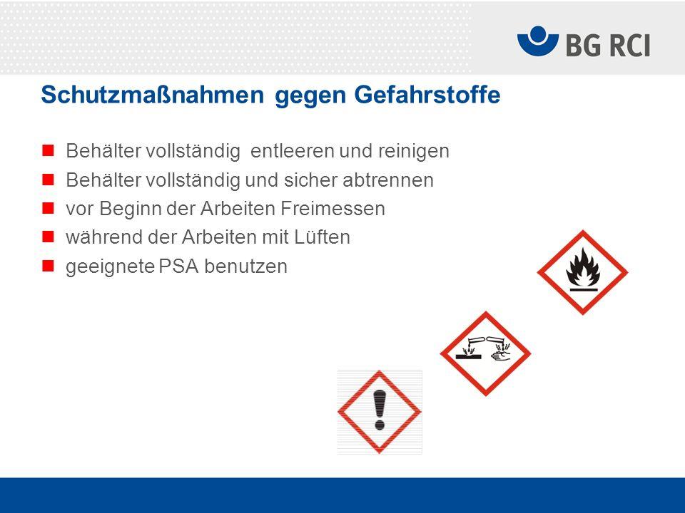 Schutzmaßnahmen gegen Gefahrstoffe