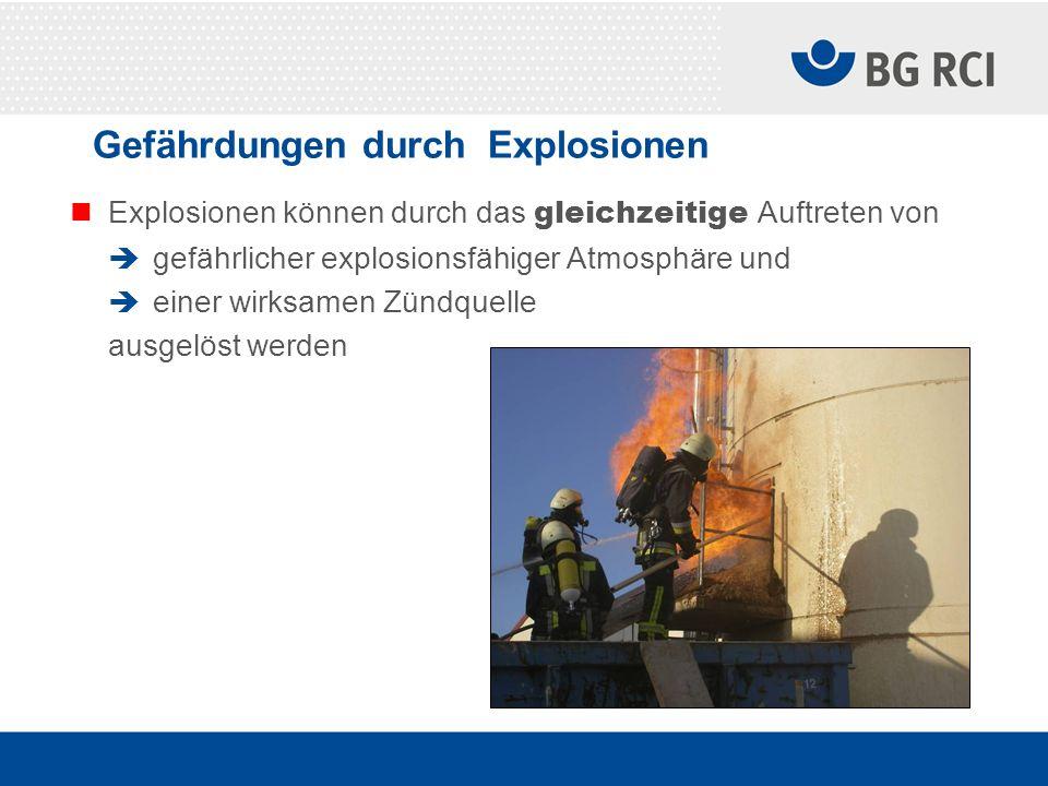 Gefährdungen durch Explosionen