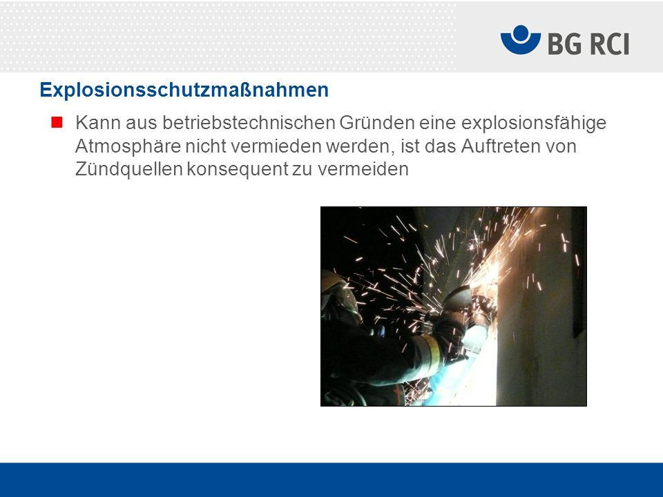 Explosionsschutzmaßnahmen