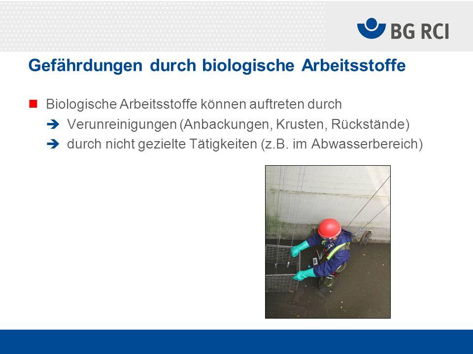 Gefährdungen durch biologische Arbeitsstoffe