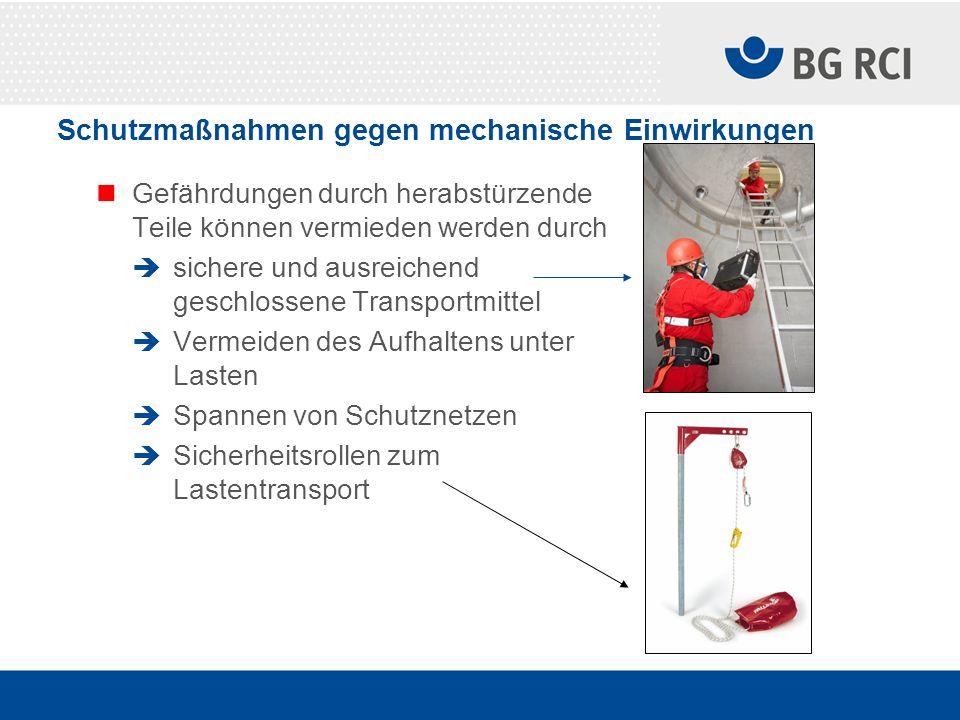 Schutzmaßnahmen gegen mechanische Einwirkungen