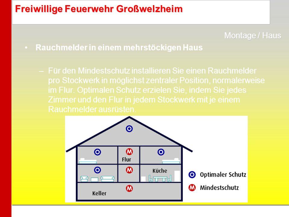 Montage / Haus Rauchmelder in einem mehrstöckigen Haus.