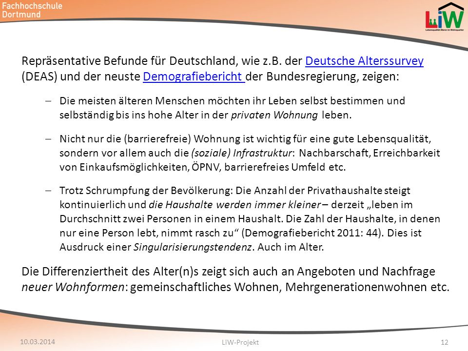 Repräsentative Befunde für Deutschland, wie z. B