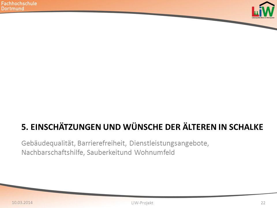 5. Einschätzungen und Wünsche der älteren in Schalke