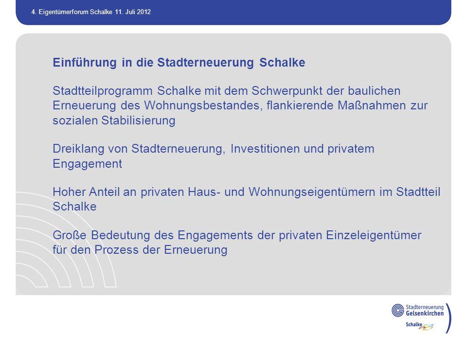 Einführung in die Stadterneuerung Schalke