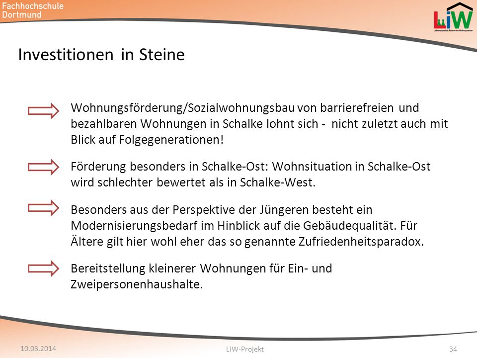 Investitionen in Steine