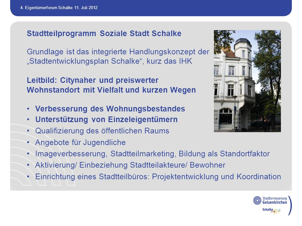Stadtteilprogramm Soziale Stadt Schalke