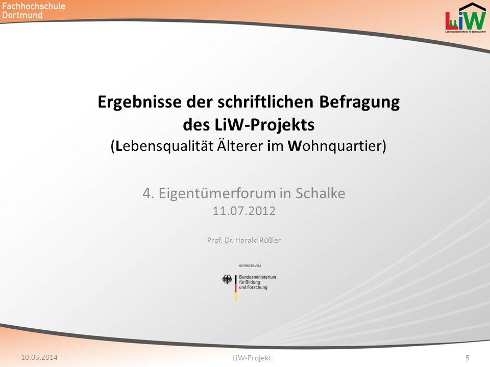 4. Eigentümerforum in Schalke 11.07.2012 Prof. Dr. Harald Rüßler