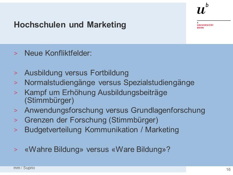 Hochschulen und Marketing