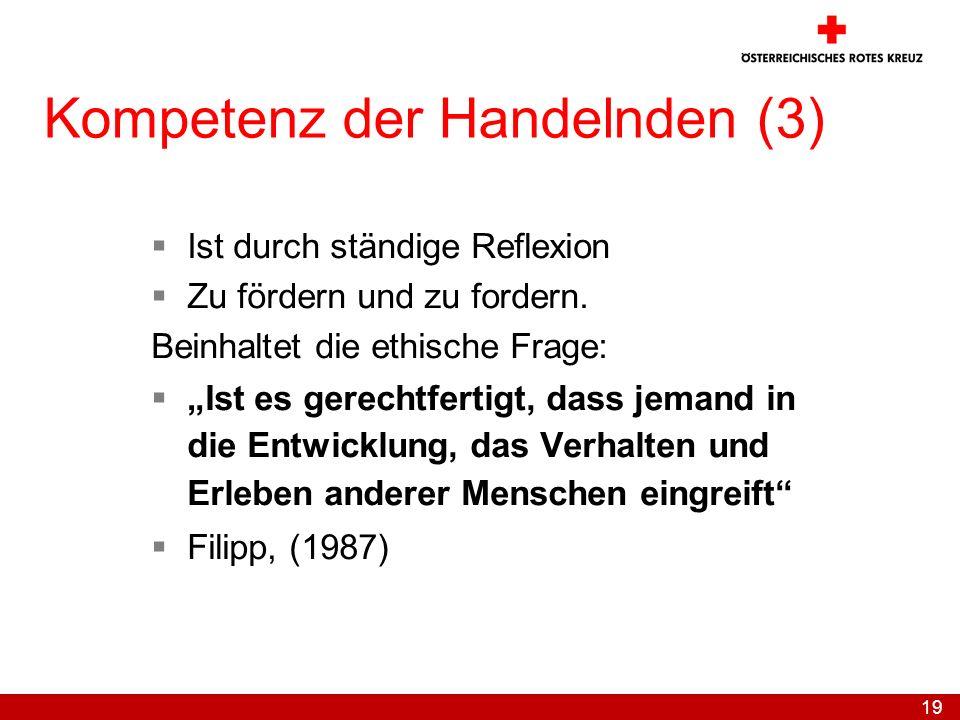 Kompetenz der Handelnden (3)