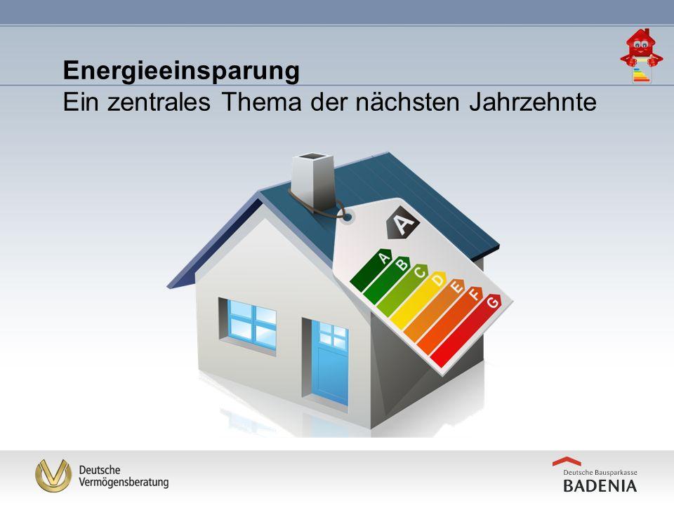 Energieeinsparung Ein zentrales Thema der nächsten Jahrzehnte