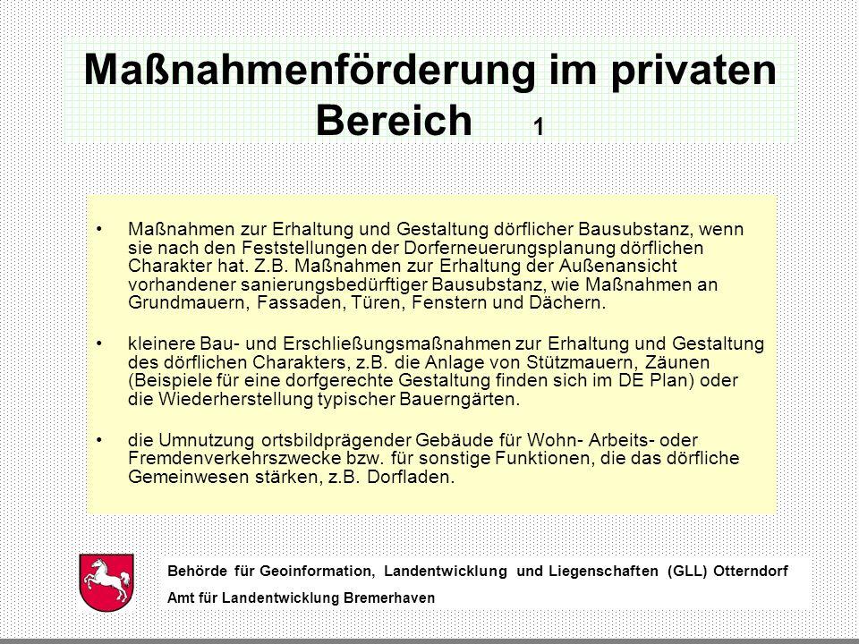 Maßnahmenförderung im privaten Bereich 1