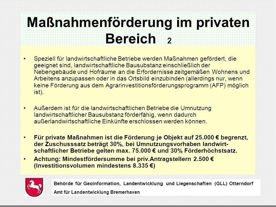 Maßnahmenförderung im privaten Bereich 2