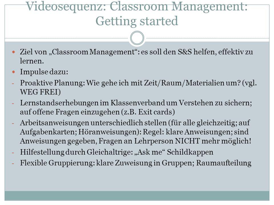 Videosequenz: Classroom Management: Getting started