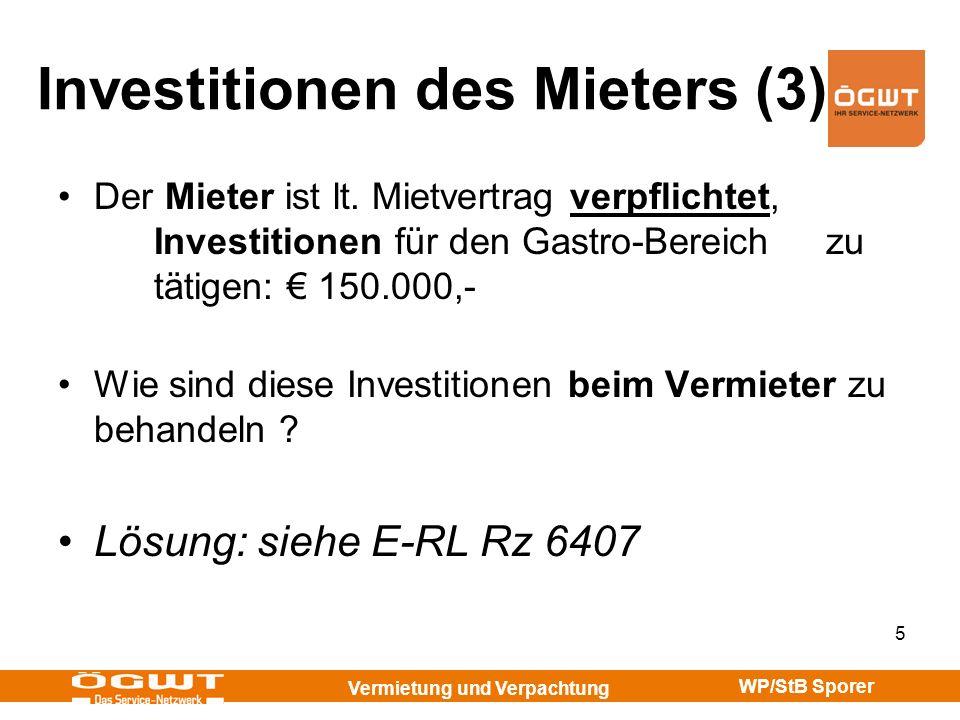 Investitionen des Mieters (3)