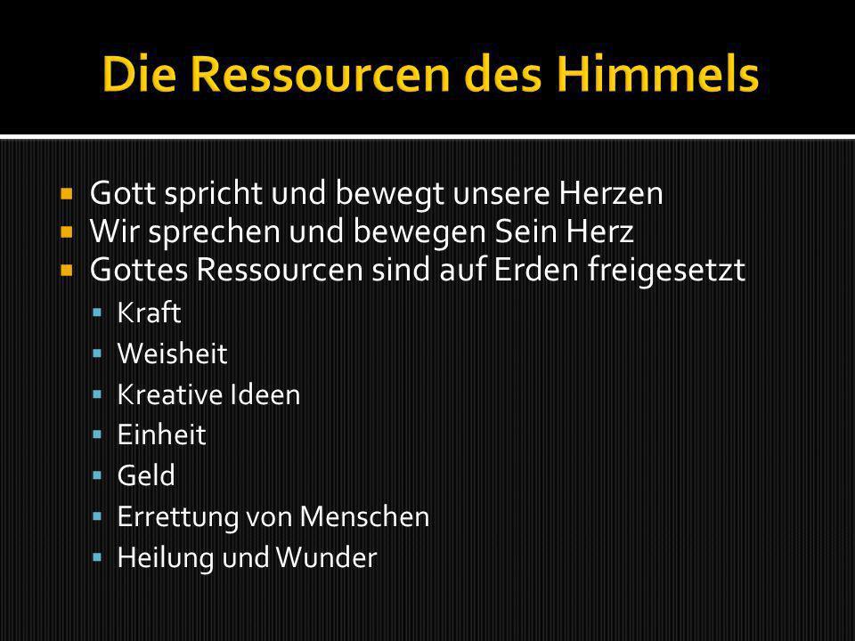 Die Ressourcen des Himmels