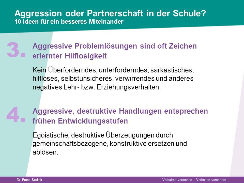 Aggression oder Partnerschaft in der Schule