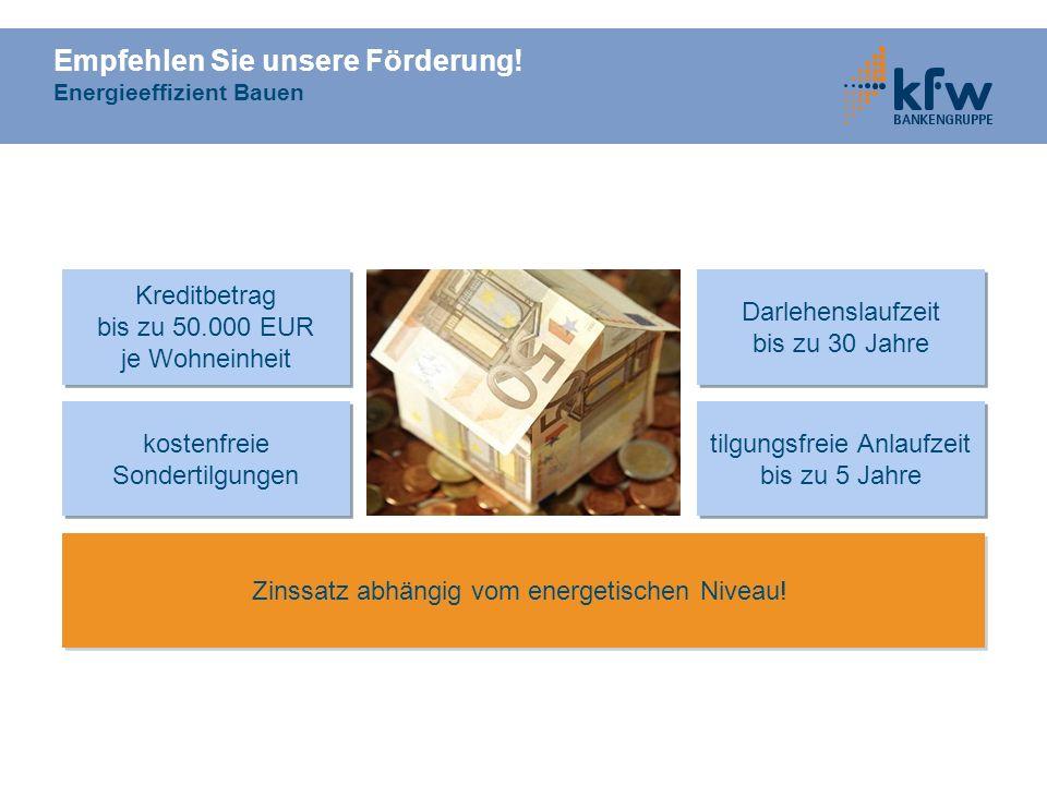 Empfehlen Sie unsere Förderung! Energieeffizient Bauen
