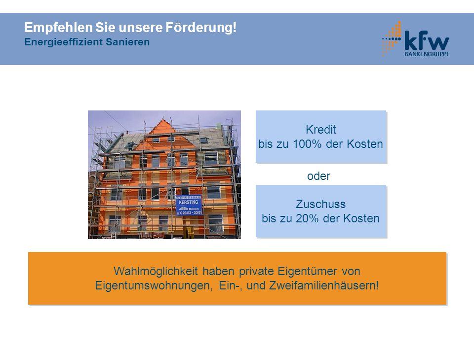Empfehlen Sie unsere Förderung! Energieeffizient Sanieren