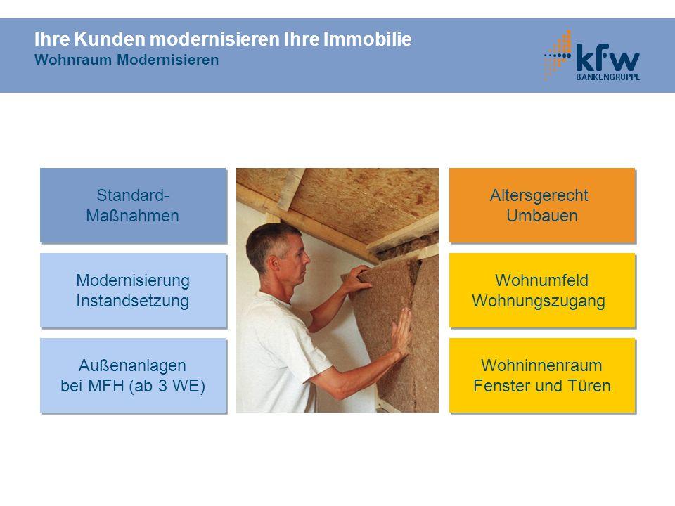 Ihre Kunden modernisieren Ihre Immobilie Wohnraum Modernisieren