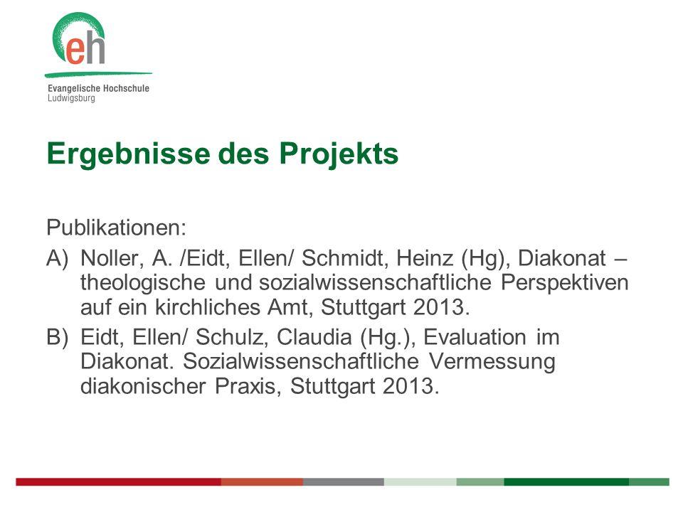 Ergebnisse des Projekts