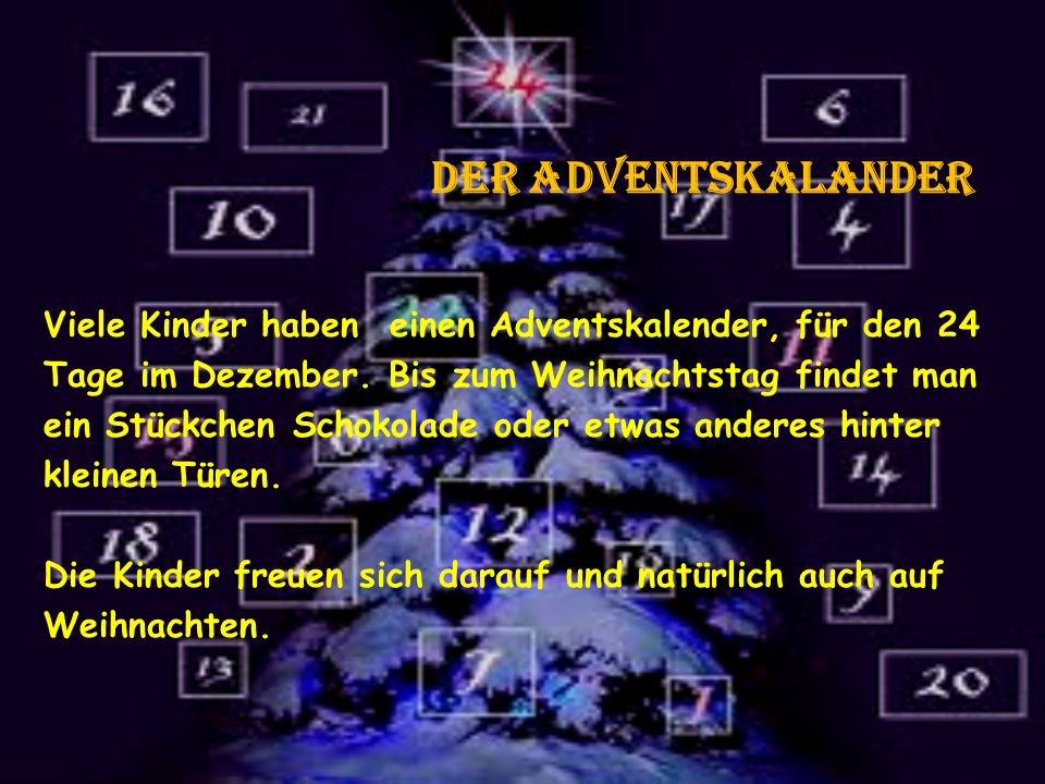 der adventskalander