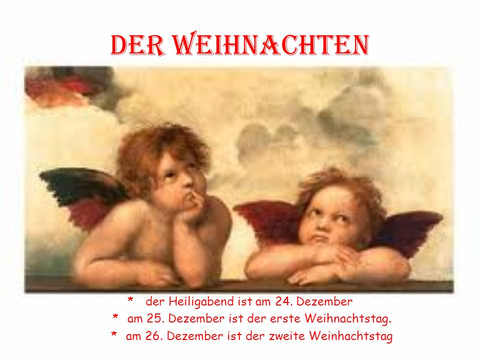 Der weihnachten der Heiligabend ist am 24. Dezember
