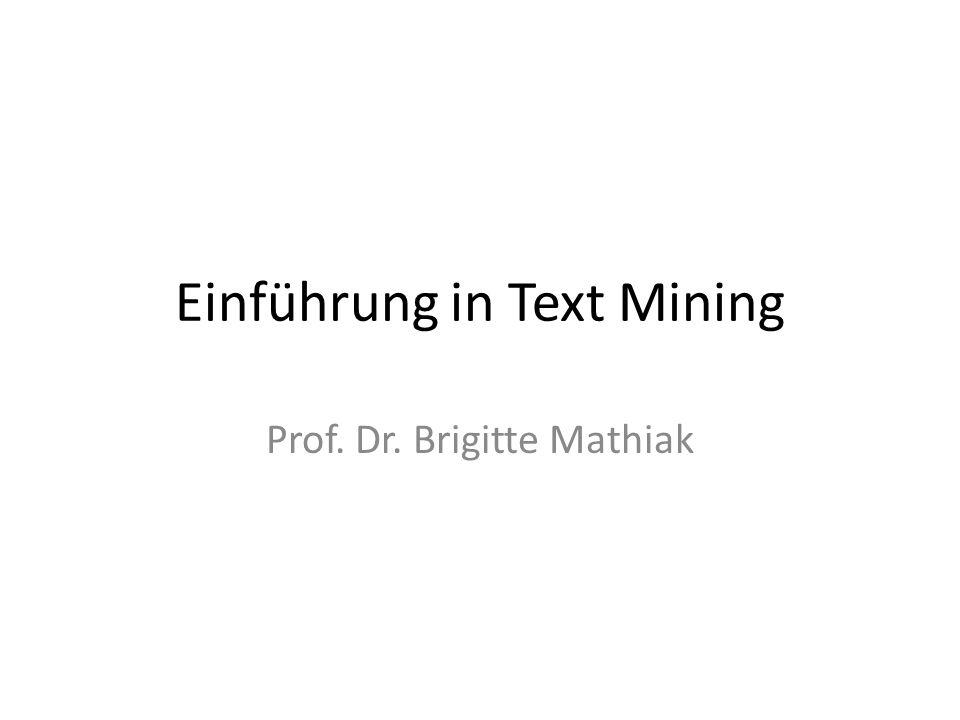 Einführung in Text Mining